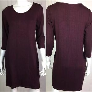 Katherine Barclay Maroon Burgundy Tunic Dress